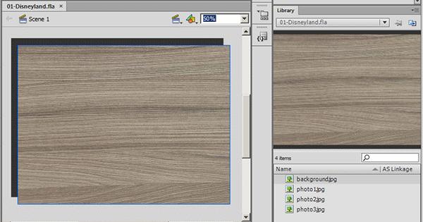 Перенос картинки из библиотеки на сцену во Flash Cs6