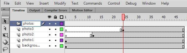 Создание папки слоев flash CS6
